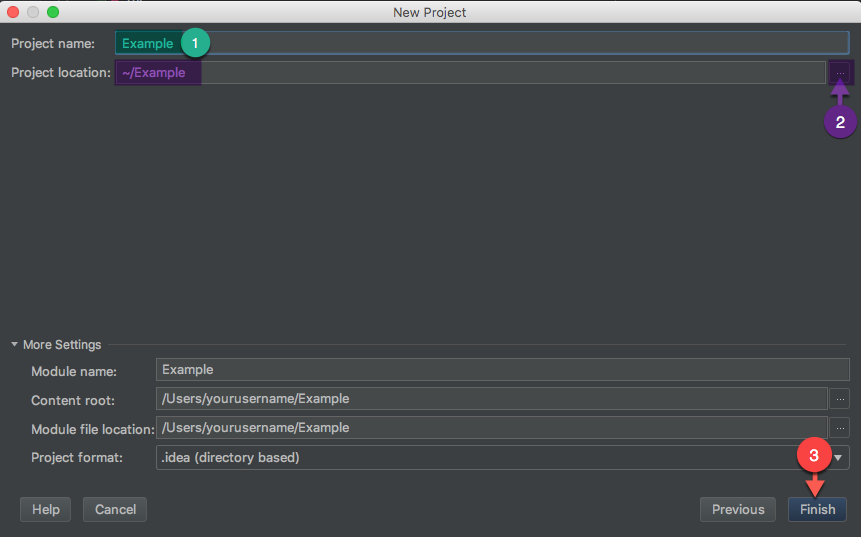 Ktor IntelliJ: Project Location Name